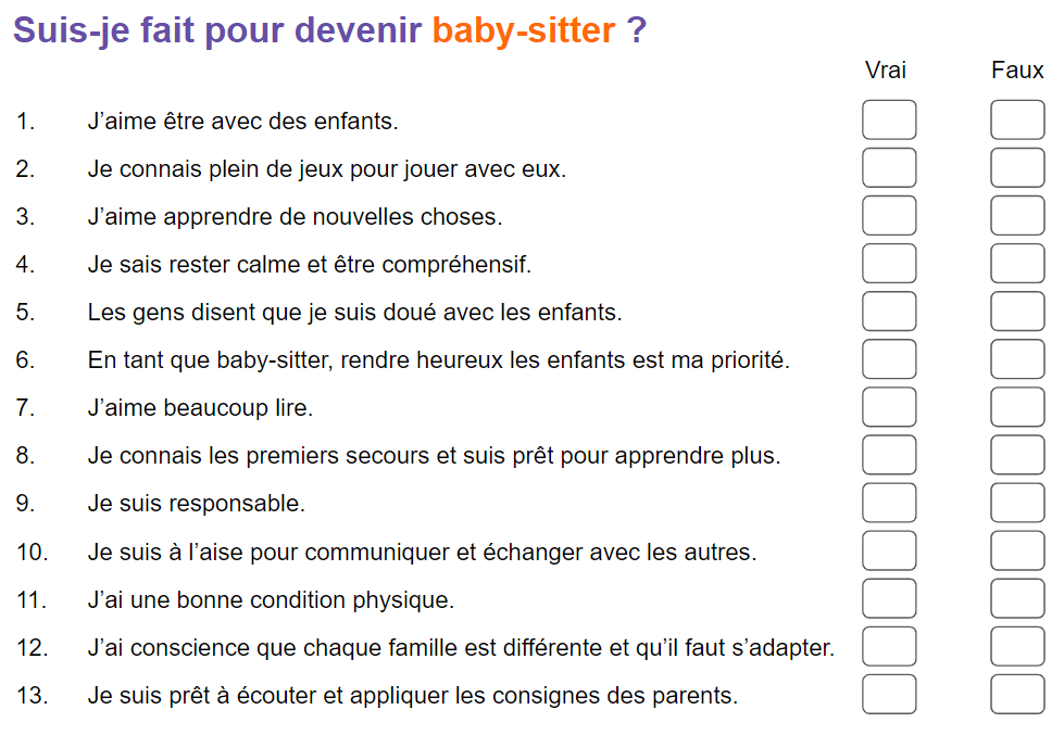 exemple petite annonce baby sitting